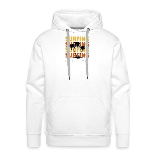 Design 134 - Sweat-shirt à capuche Premium pour hommes