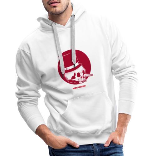 Kerstmis doodshoofd mondkapje 2 lagen herbruikbaar - Mannen Premium hoodie