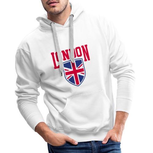 London Souvenir - London Wappen Flagge - Männer Premium Hoodie