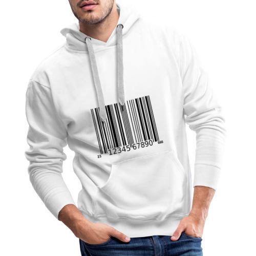 Barcode Tshirt ✅ Jetzt kaufen - Männer Premium Hoodie