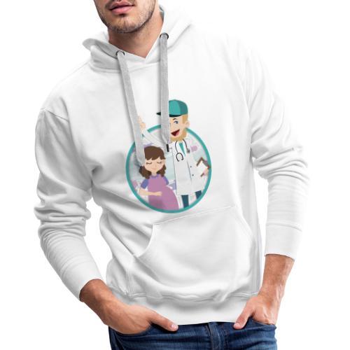 Richtig Schwanger Logo - Männer Premium Hoodie