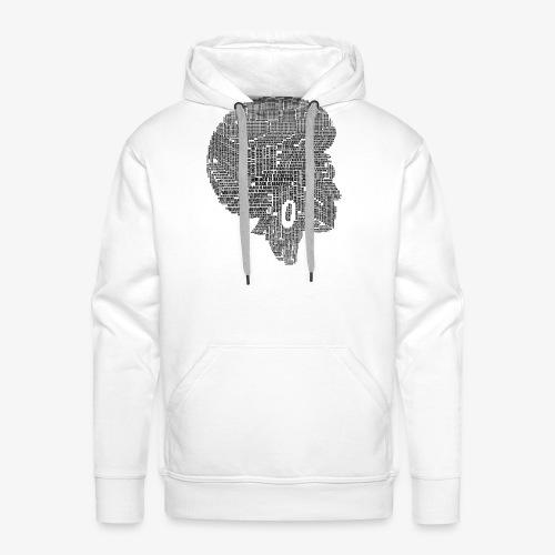 Black Is Beautiful Afro - Sweat-shirt à capuche Premium pour hommes