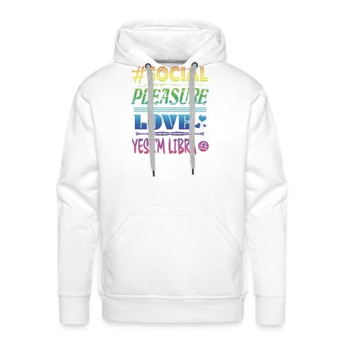 Segno della Bilancia Social Pleasure Love Rainbow - Felpa con cappuccio premium da uomo