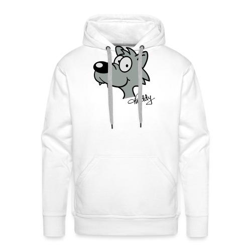 Wolf beflockbar - Männer Premium Hoodie