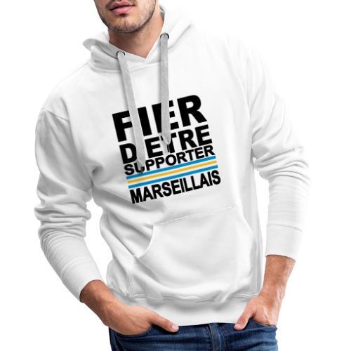 fier marseille noir 01 - Sweat-shirt à capuche Premium pour hommes