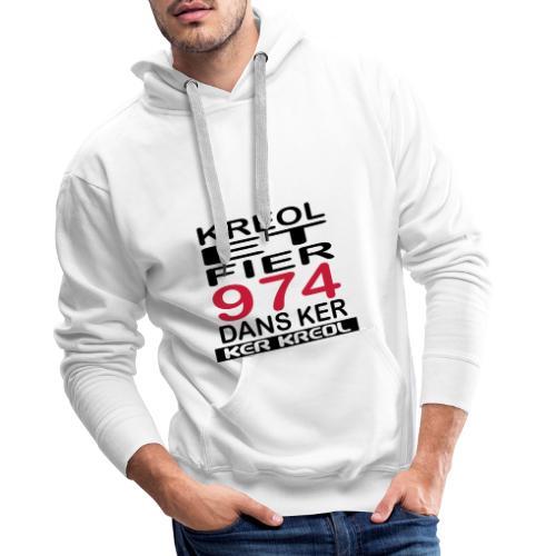 Kreol et Fier dans Ker - Sweat-shirt à capuche Premium pour hommes