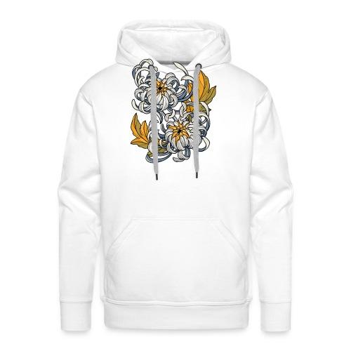 Chrysanthèmes enlacés - Sweat-shirt à capuche Premium pour hommes