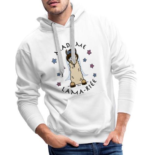 Madame Lama-riée, Lama, Mariage, EVJF, mariée - Sweat-shirt à capuche Premium pour hommes