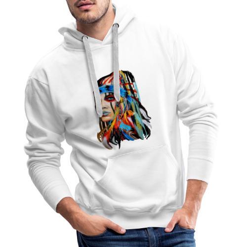 Pióra i pióropusze - Bluza męska Premium z kapturem