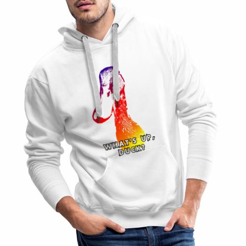 what's up duck - Color - Men's Premium Hoodie