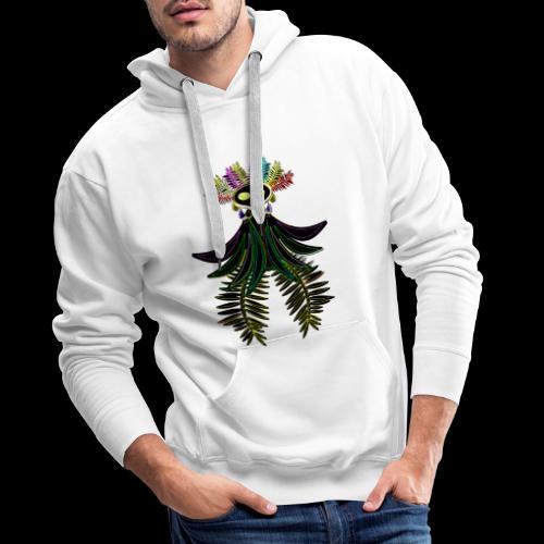 L'oiseau paradis néon - Sweat-shirt à capuche Premium pour hommes
