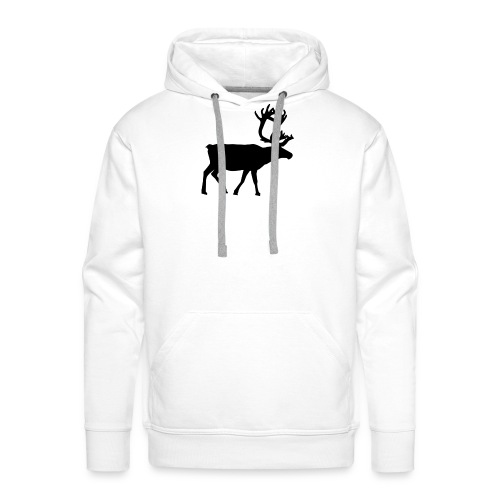 16593-illustrated-silhouette-of-a-reindeer-pv - Premiumluvtröja herr