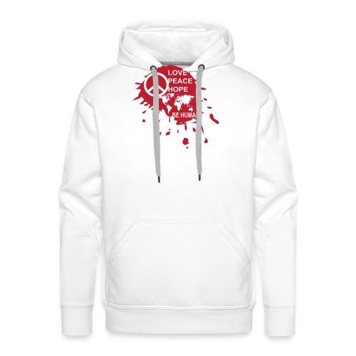 Love Be Human - Mannen Premium hoodie