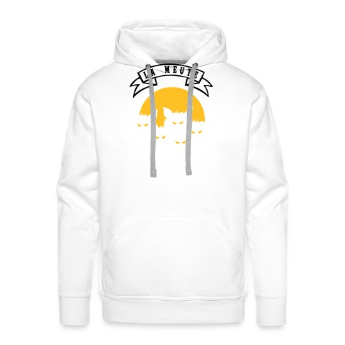 la meute - Sweat-shirt à capuche Premium pour hommes