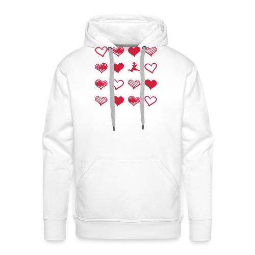 15 Herzen und Tangram - Männer Premium Hoodie