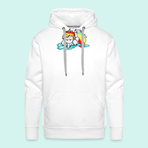 Baby unicorn - Felpa con cappuccio premium da uomo