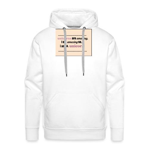 UNICORNS - Mannen Premium hoodie