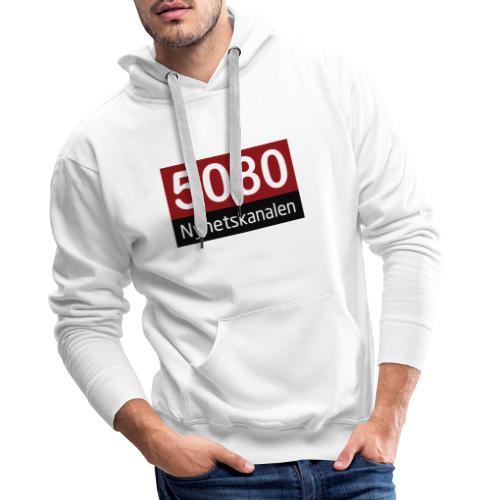 5080 nyhetskanalen logo - Premium hettegenser for menn