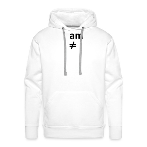 I am ≠ - Sudadera con capucha premium para hombre