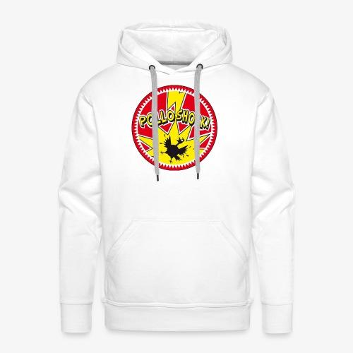 Logo ufficiale dei Pollo Shock! - Felpa con cappuccio premium da uomo