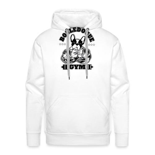 bouledogue gym - Sweat-shirt à capuche Premium pour hommes