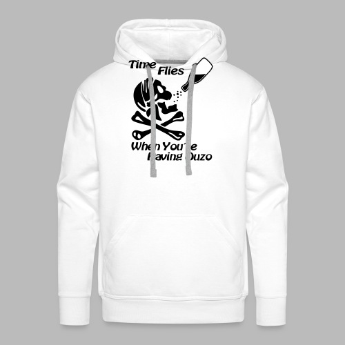 Time Flies Ouzs Shirt - Männer Premium Hoodie