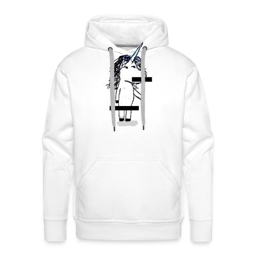 unicorno Censored - Felpa con cappuccio premium da uomo