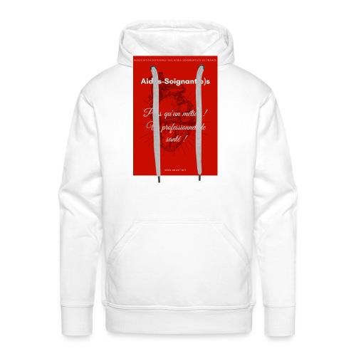 Association Nationale des aides soignant e s de fr - Sweat-shirt à capuche Premium pour hommes