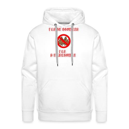 pas de couilles pas d embrouille - Sweat-shirt à capuche Premium pour hommes