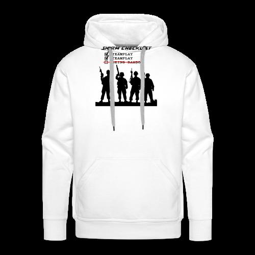 Skirm Checklist - Mannen Premium hoodie