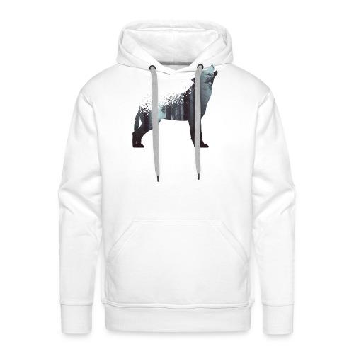 Wolf Wald - Männer Premium Hoodie