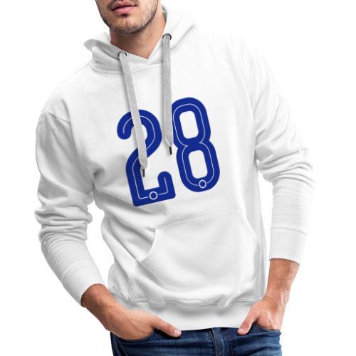 28 Jersey Number by Pelibol ™ - Männer Premium Hoodie