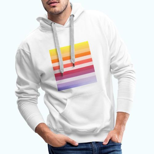Rainbow Abstract Acrylic Painting - Men's Premium Hoodie