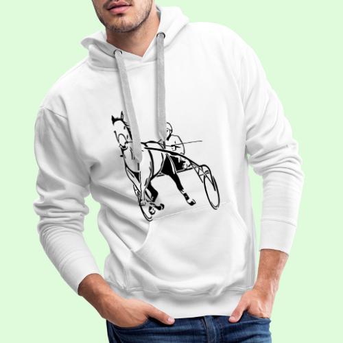 Le Trotteur Français - Sweat-shirt à capuche Premium pour hommes