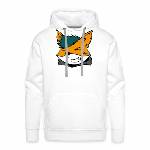 Le petit Fox [LOGO PERSONNALISABLE] - Sweat-shirt à capuche Premium pour hommes
