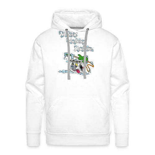 Wicked Washing Machine Cartoon and Logo - Mannen Premium hoodie