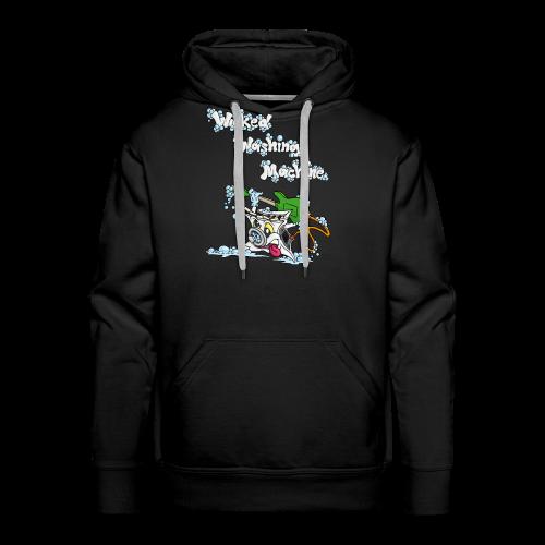 Wicked Washing Machine Cartoon and Logo - Mannen Premium hoodie