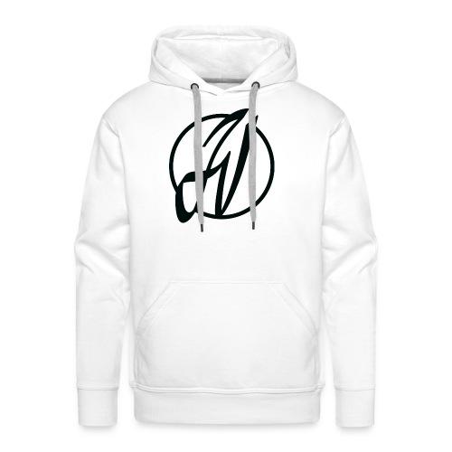 JV Guitars - logo noir - Sweat-shirt à capuche Premium pour hommes
