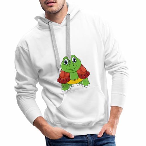 Niedliche Schildkröte - Männer Premium Hoodie