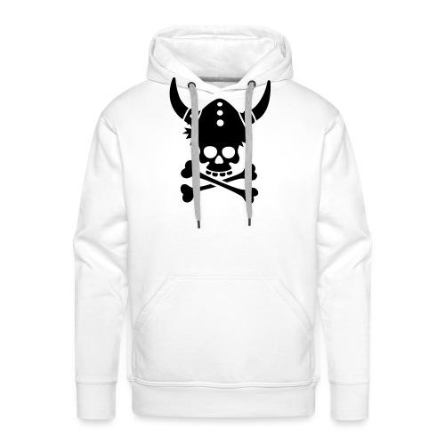 Totenkopf mit Wikingerhelm - Männer Premium Hoodie