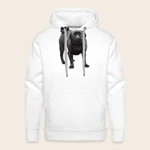 schwarzer Mops - Männer Premium Hoodie