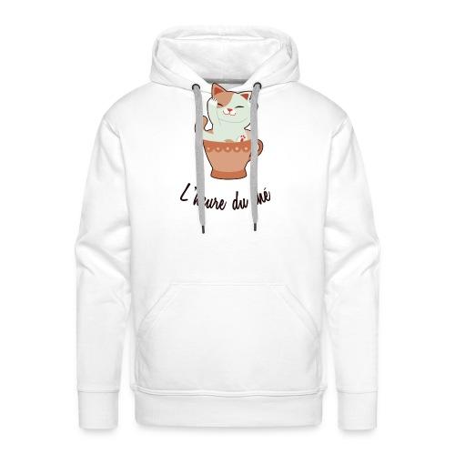 L' Heure Du Thé - Sweat-shirt à capuche Premium pour hommes