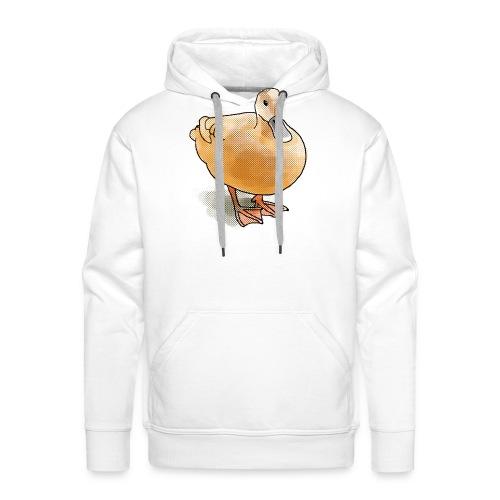 eend halftone - Mannen Premium hoodie