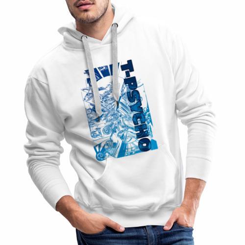 T PSYCO LIVREA BLUE - Felpa con cappuccio premium da uomo