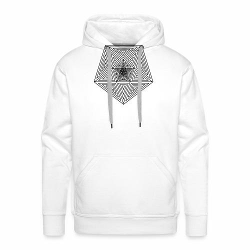 Pentagramm einfach - Männer Premium Hoodie