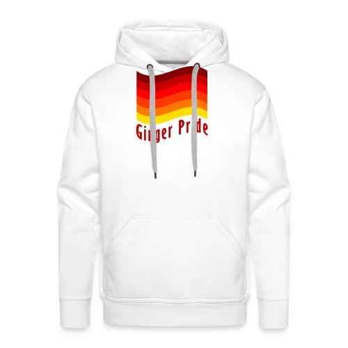 Ginger Pride flag Dark png - Men's Premium Hoodie
