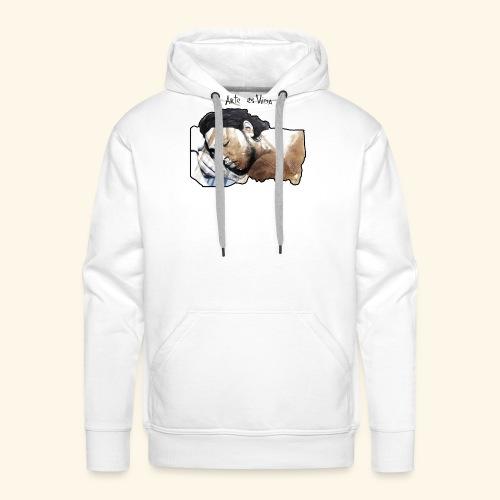 arte es vida - Sudadera con capucha premium para hombre