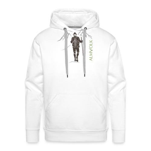 Herren-Shirt ALMVOLK Bergwanderer - Männer Premium Hoodie