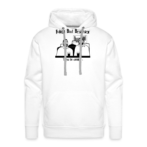 Black and White Logo - Men's Premium Hoodie