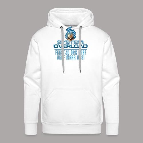 System Overload Light Blue - Mannen Premium hoodie